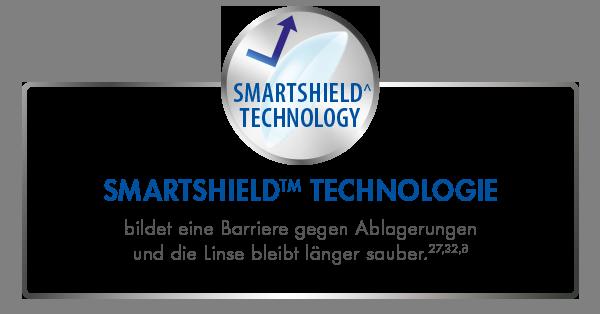 SMARTSHIELDTM TECHNOLOGIE bildet eine Barriere gegen Ablagerungen und die Kontaktlinsen bleiben länger sauber27,32∂